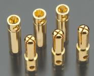 Banana 4.0mm Gold Power Connector (3 sets)